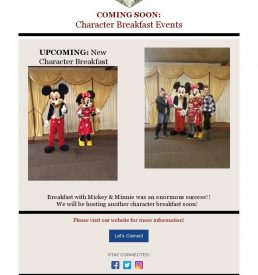 Character Events Flyer