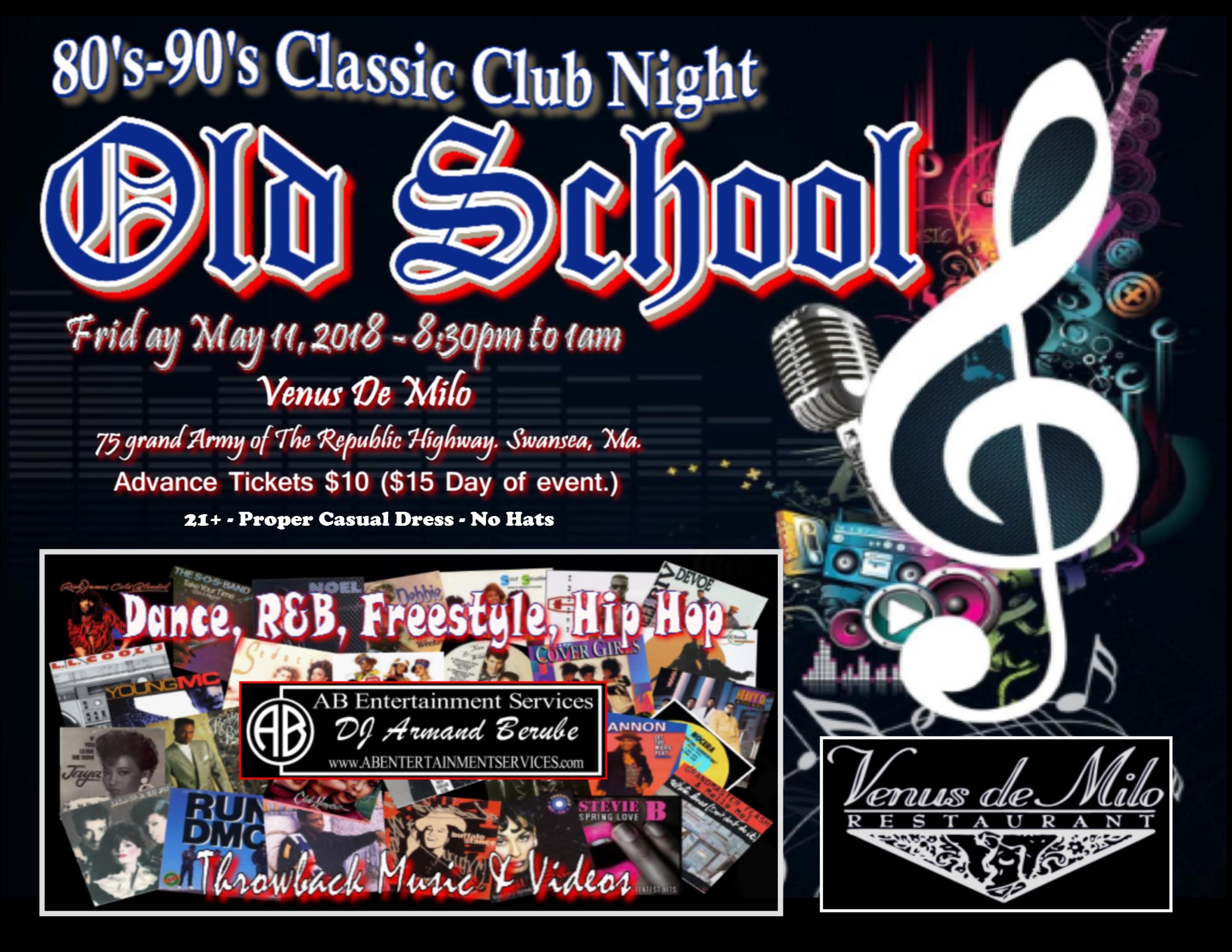 Old School 80\'s – 90\'s Classic Club Night ~ Guest Ticket | Venus de Milo