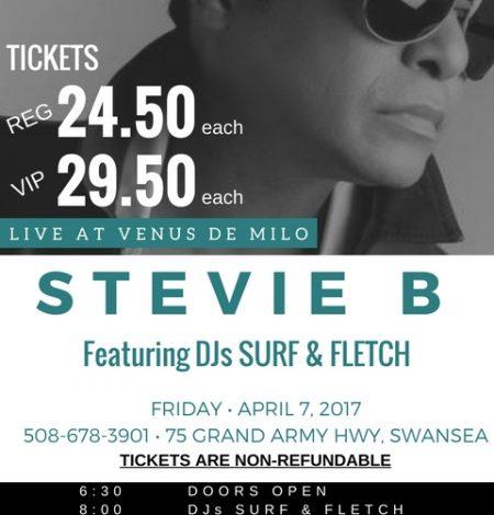 STEVIE B 2017 April flyer